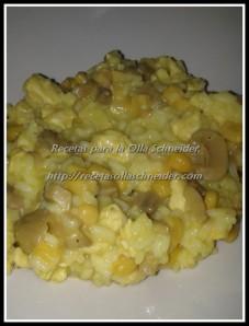 risotto pavo y maiz