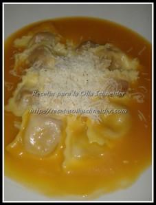 Crema calabaza ravioli