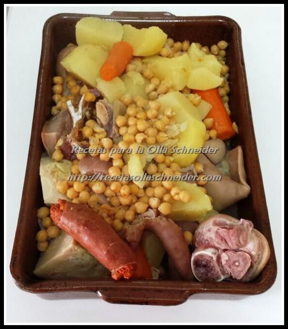 Primeros platos recetas para la olla el ctrica schneider - Cocido en la olla express ...