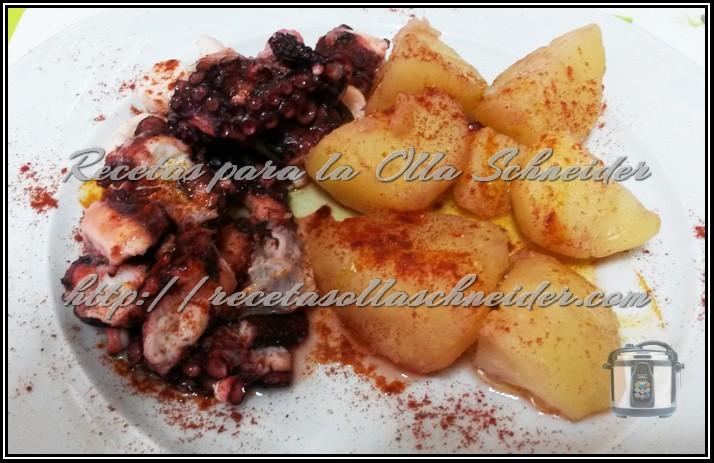 Pulpo a la gallega recetas para la olla schneider for Pulpo en olla express