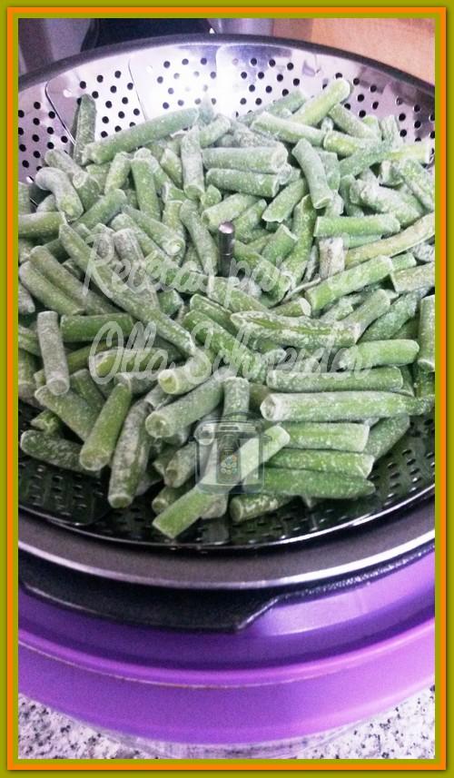 Fréjoles o judías verdes congeladas